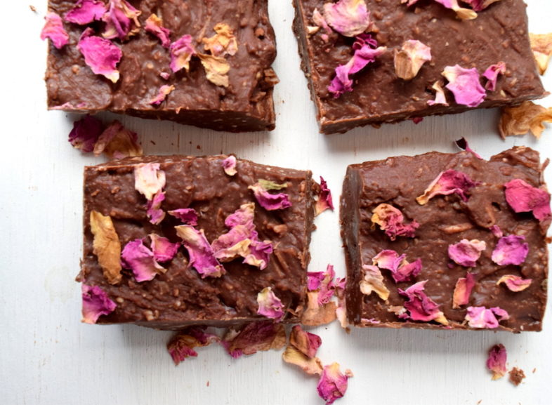 Rose Infused Coconut Rough Slice